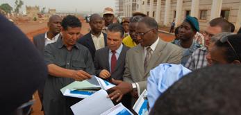 Le 21 avril 2010, le Premier ministre Modibo Sidibé a visité le chantier de la Cité Administrative.