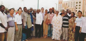 Le 18 avril 2011 Mme Cissé Mariam Kaïdama Sidibé, Premier Ministre du Mali, a visité la Cité Administrative de Bamako.