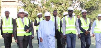 Le 30 juillet 2015, le Président de la République Ibrahim Boubacar Keïta a visité le chantier du Palais présidentiel de Koulouba.